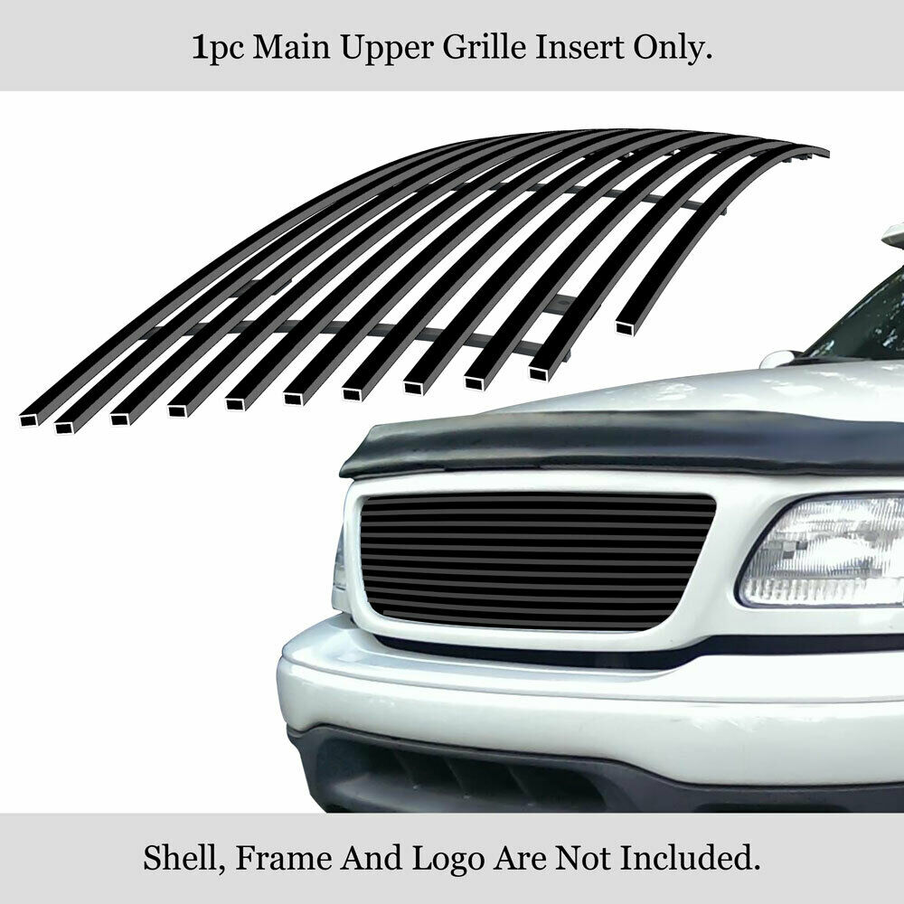Ford F150 99: Fits 99-03 Ford F-150/Lightning/Harley Black Billet Grille