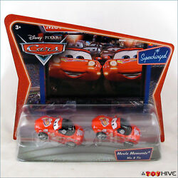 Disney Pixar Cars red Mia and Tia Movie Moments Supercharged series 2-pack