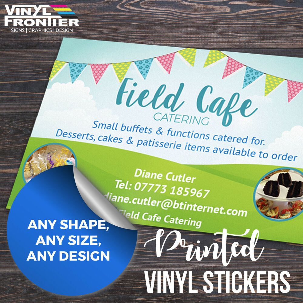 Details about full colour custom printed self adhesive vinyl stickers