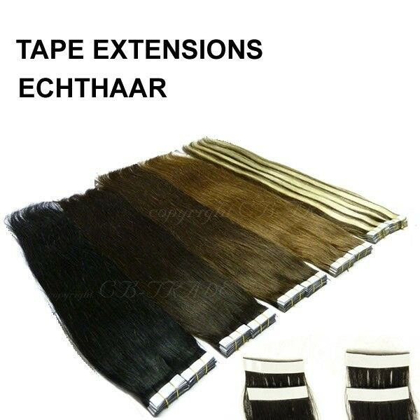 100 remy echthaar 40 tape in 70cm extensions. Black Bedroom Furniture Sets. Home Design Ideas