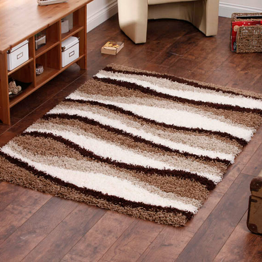 Black And White Extra Large Rug: EXTRA LARGE THICK BEIGE IVORY WHITE BROWN CREAM