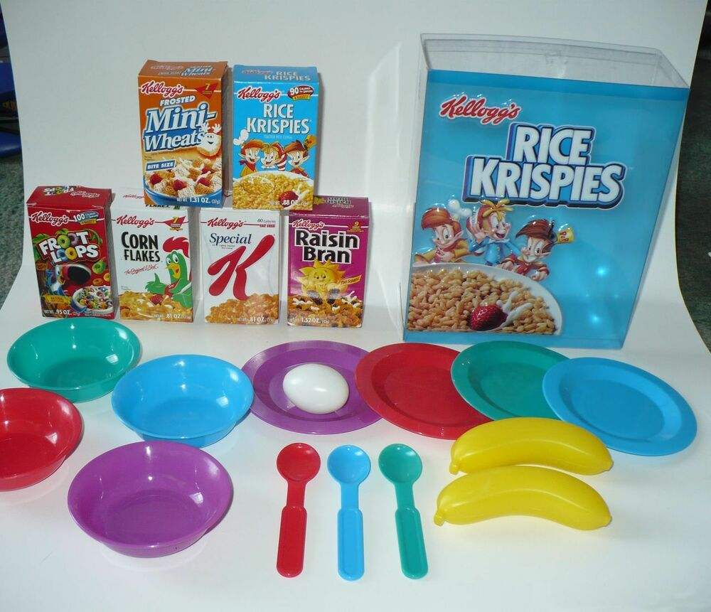 Kitchen Diorama Made Of Cereal Box: PLAY KITCHEN KELLOGGS RICE KRISPIES CEREAL & MORE SET LOOK