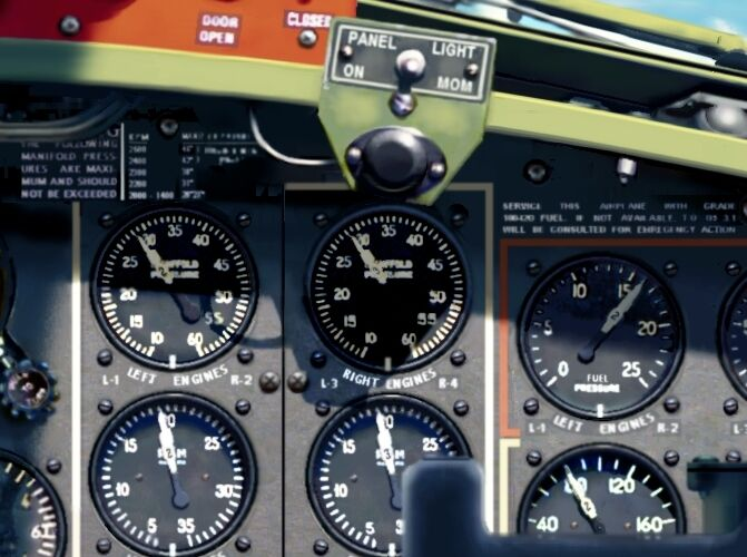 Airplane Instrument Panel : B wwii aircraft instrument panel w gauges foot