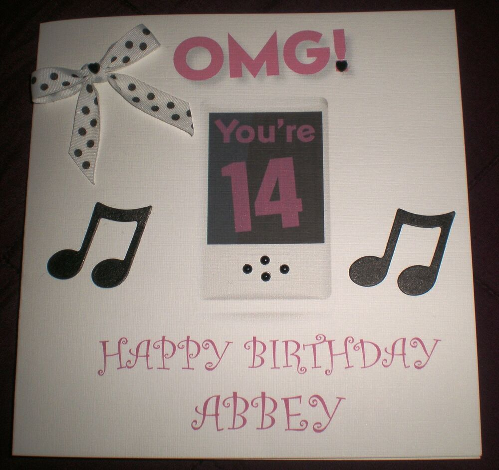 Http Www Edsfashions Co Uk Gift Ideas For Girls Age 10: HANDMADE PERSONALISED BIRTHDAY CARD OMG IPOD BOY GIRL 13TH
