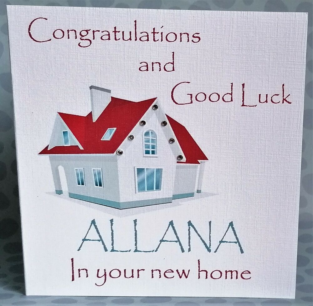 New Home Quotes Handmade Personalised Congratulations And Good Luck In Your New
