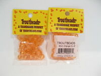 TROUTBEADS ORANGE CLEAR 8 MM 1 PACK TROUT BEADS