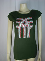 FENCHURCH LADIES ARMY GREEN ROUND NECK T SHIRT SIZE SMALL