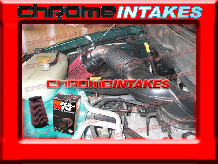 02 03 2002 2003 dodge ram 1500 5 9l v8 gas engine air intake red k n ebay. Black Bedroom Furniture Sets. Home Design Ideas