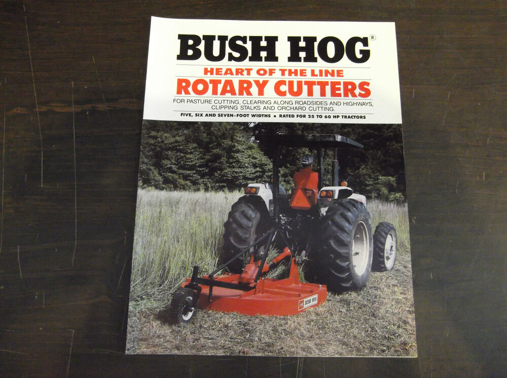 Bush Hog Heart Of The Line Rotary Cutters Brochure 307 305