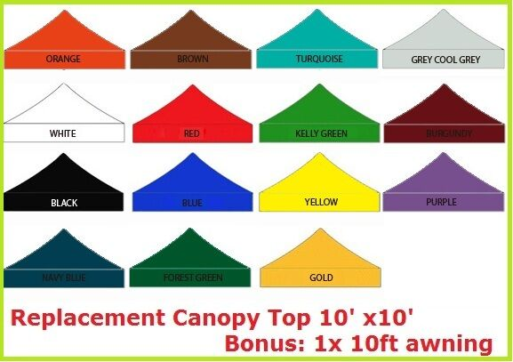 New Pop Up 10x10 Replacement Instant Ez Canopy Top Cover
