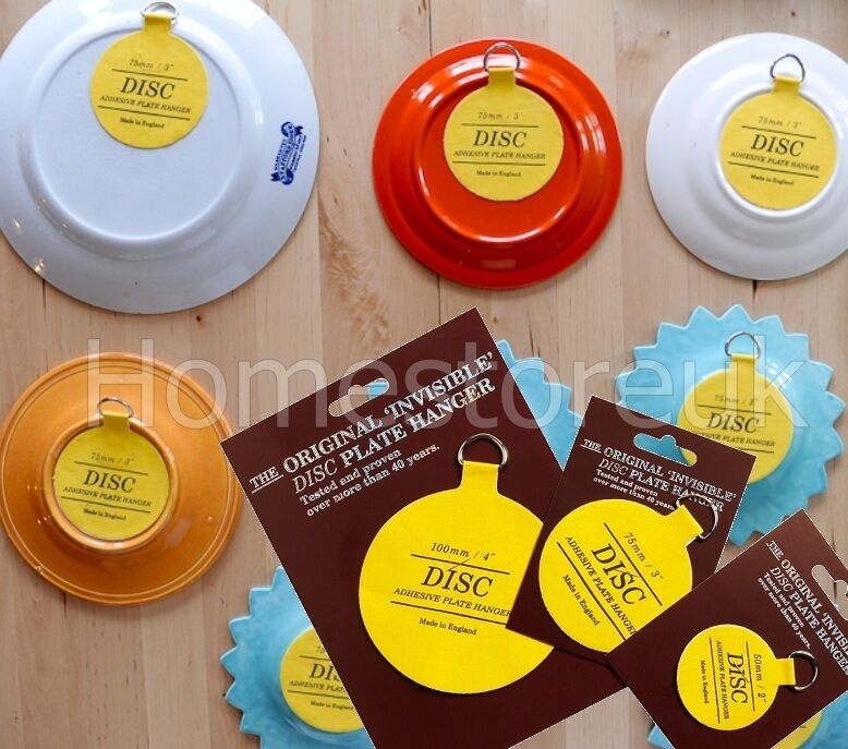 PLATE DISC INVISIBLE PICTURE HANGING STICKY BACK ON HOOK HANGER SELF ADHESIVE | eBay & PLATE DISC INVISIBLE PICTURE HANGING STICKY BACK ON HOOK HANGER SELF ...