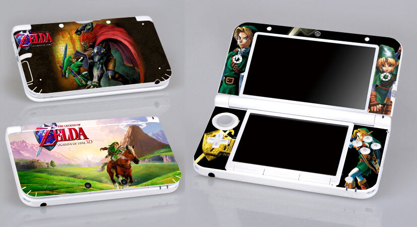 Zelda ocarina of time 224 vinyl decal skin sticker for nintendo 3ds xl ll ebay - Ocarina of time 3ds console ...