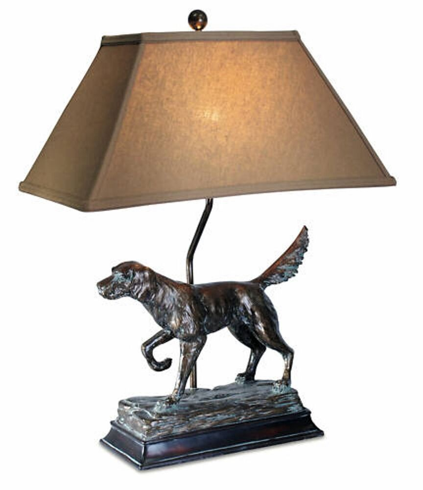 hunting dog lamp english irish setter retriever rustic