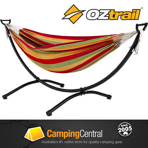 oztrail hammock frame stand set includes double hammock ebay