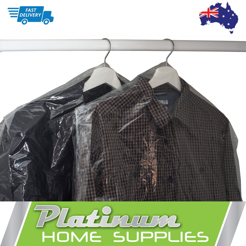 New Plastic Covers Bags Dry Cleaning Garment Clothes