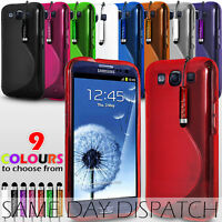 S LINE WAVE GEL CASE COVER & MINI STYLUS PEN FOR SAMSUNG I9300 GALAXY S III