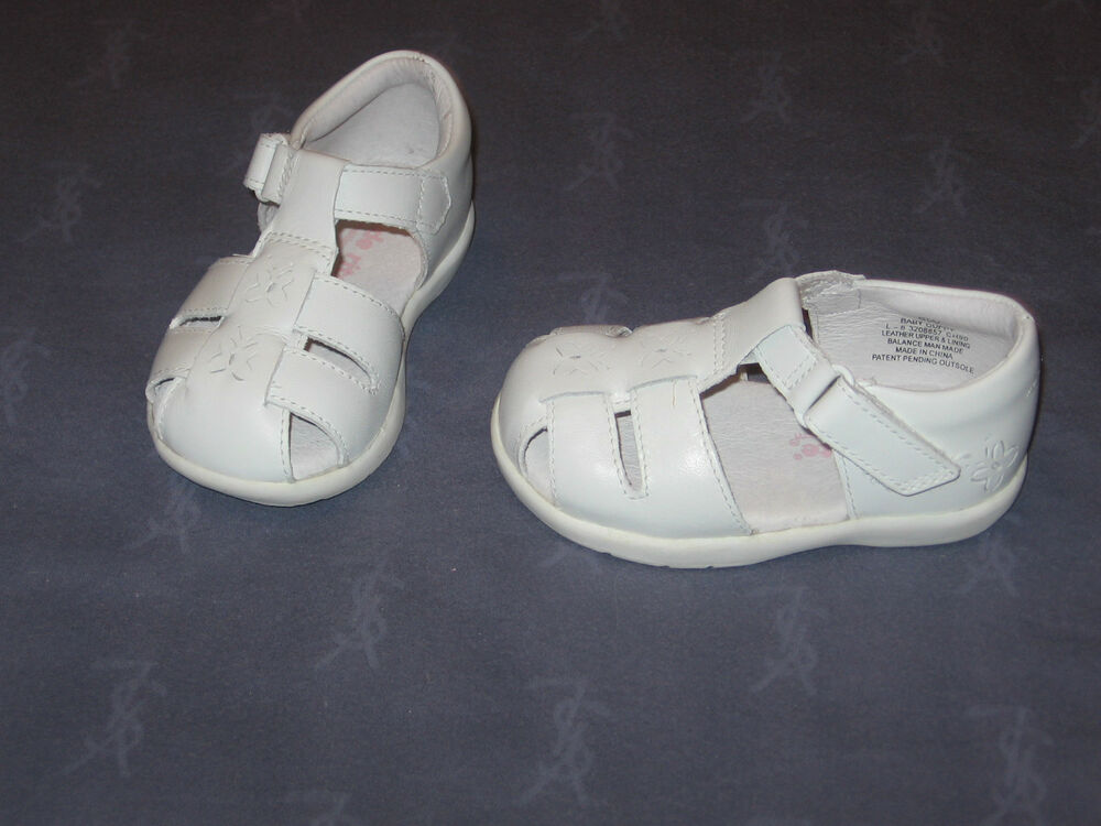 NWOB stride rite BABY GUPPY / WHITE LEATHER T - STRAP | eBay