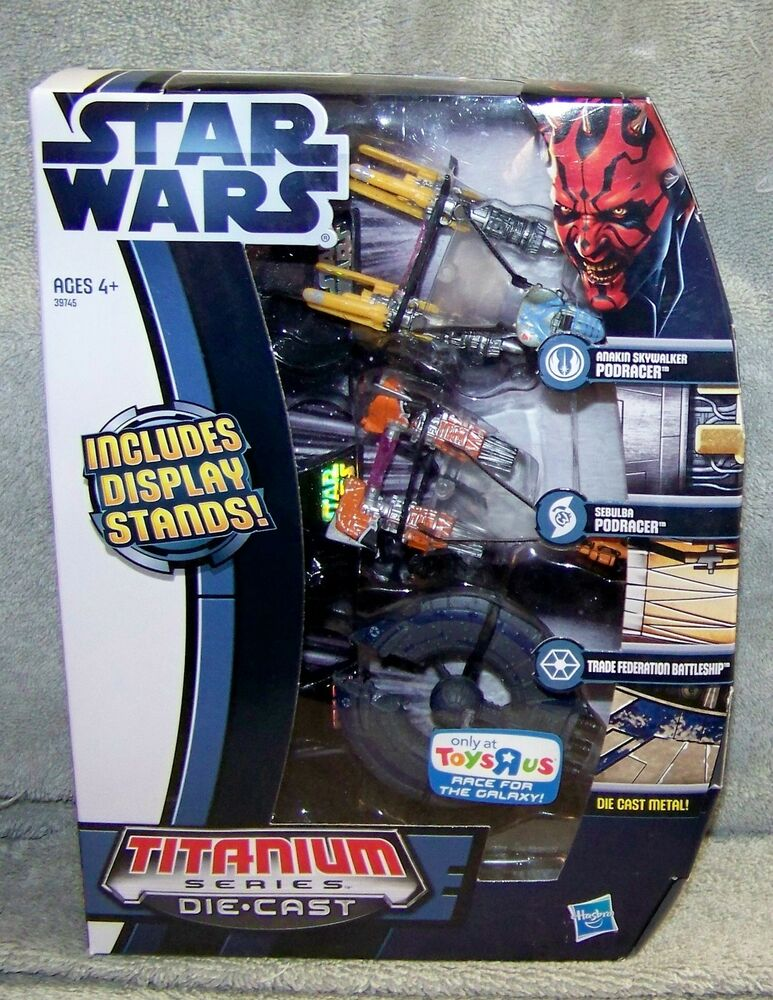 Toys Are Us Star Wars : Star wars titanium series podracers trade federation