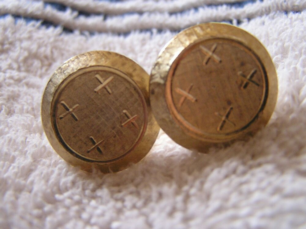 Vintage Cufflinks with Cross
