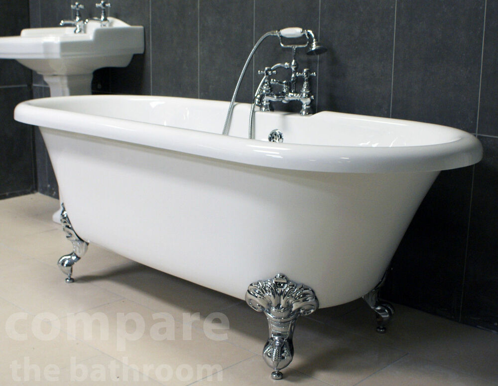 Traditional Freestanding Bath Ball Amp Claw Feet Roll Top Lifetime Guarantee Ebay