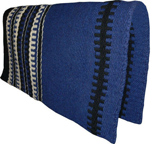 New Dark Blue Western Saddle Show Pad Blanket Navajo New
