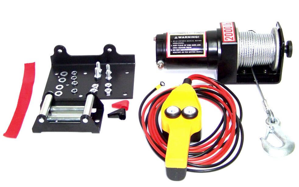 12v 2000 Lb Capacity Power Cable Atv Winch Kit 12 Volt