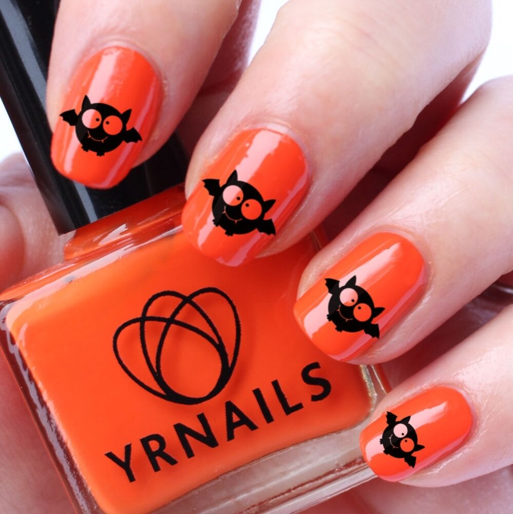 Nail WRAPS Nail Art Water Transfers Decals - Halloween ...