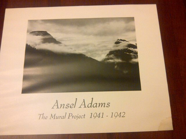Ansel adams print the mural project ebay for Ansel adams mural project