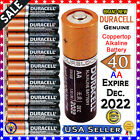 40 Pack Genuine DURACELL  AA Batteries  Copper-top  Alkaline Battery Brand New