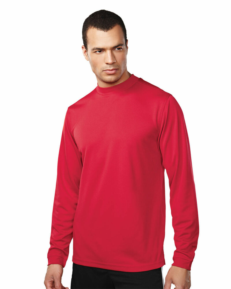 Tri mountain men 39 s mock self fabric collar turtleneck for Turtleneck under t shirt