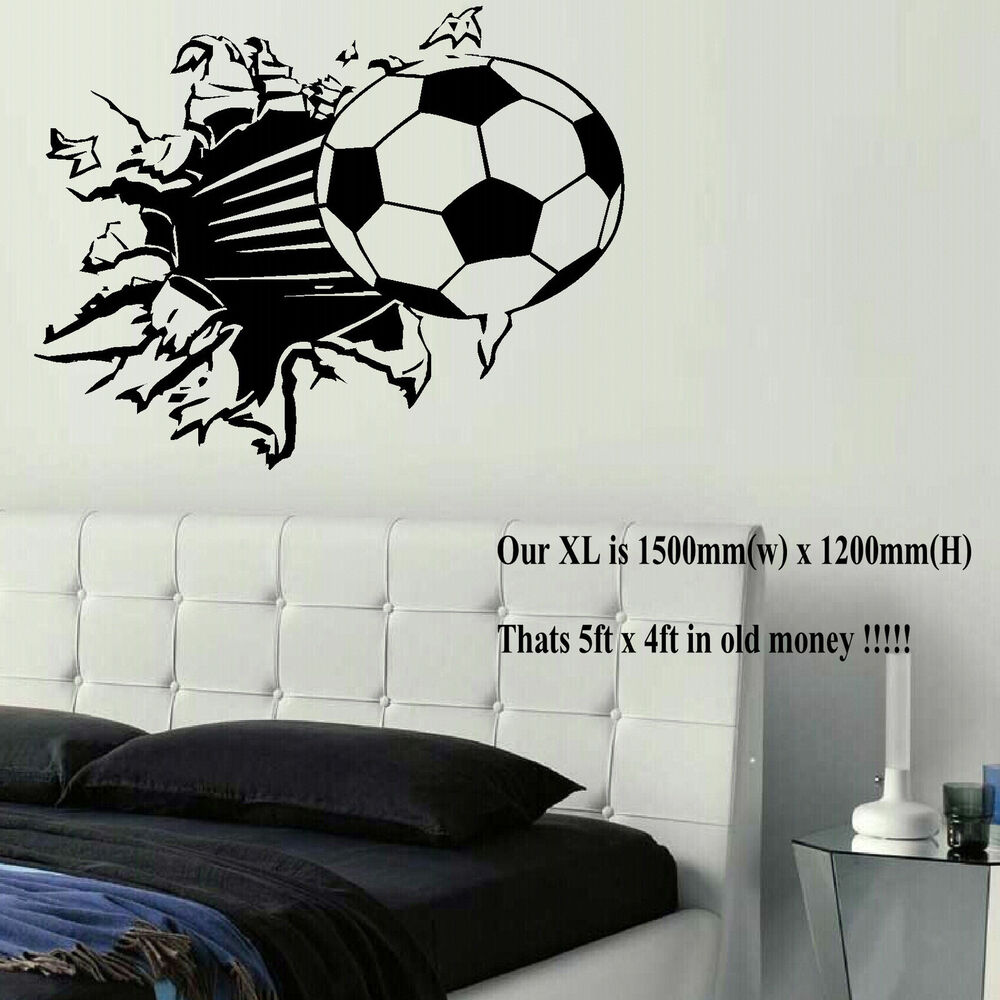 Extra large football ball wall art bedroom mural sticker for Cheap wall mural posters
