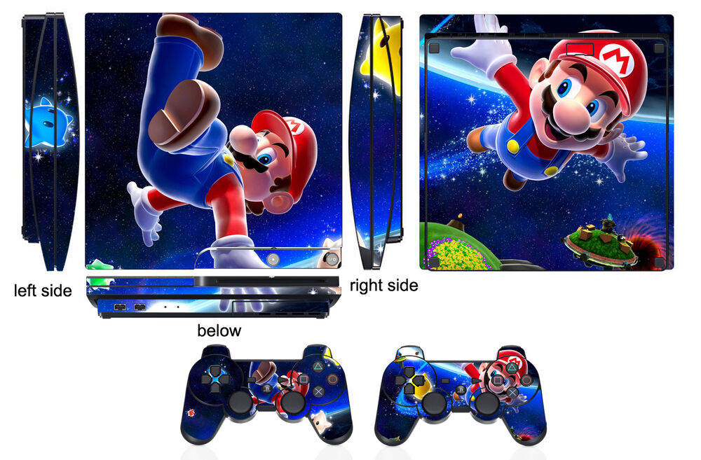 Mario Games For Ps3 : Skin sticker for ps playstation slim and controller
