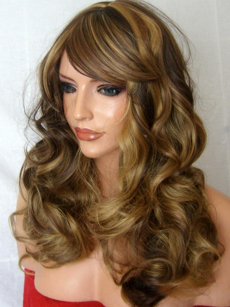 Long Wig Curly Full Women Fashion Natural Brown Ladies