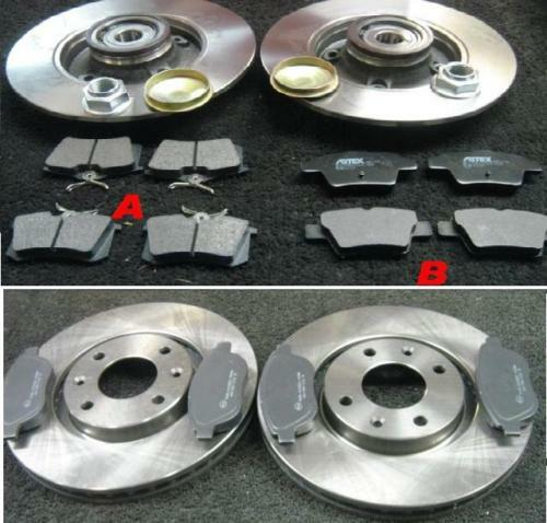 citroen c4 hdi vtr plus front rear brake discs pads front discs 302mm ebay. Black Bedroom Furniture Sets. Home Design Ideas