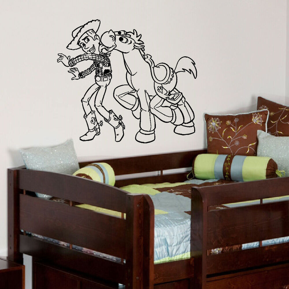 Large Toy Story 3 Woody Bullseye Children Bedroom Wall Art Sticker Poster Decal Ebay