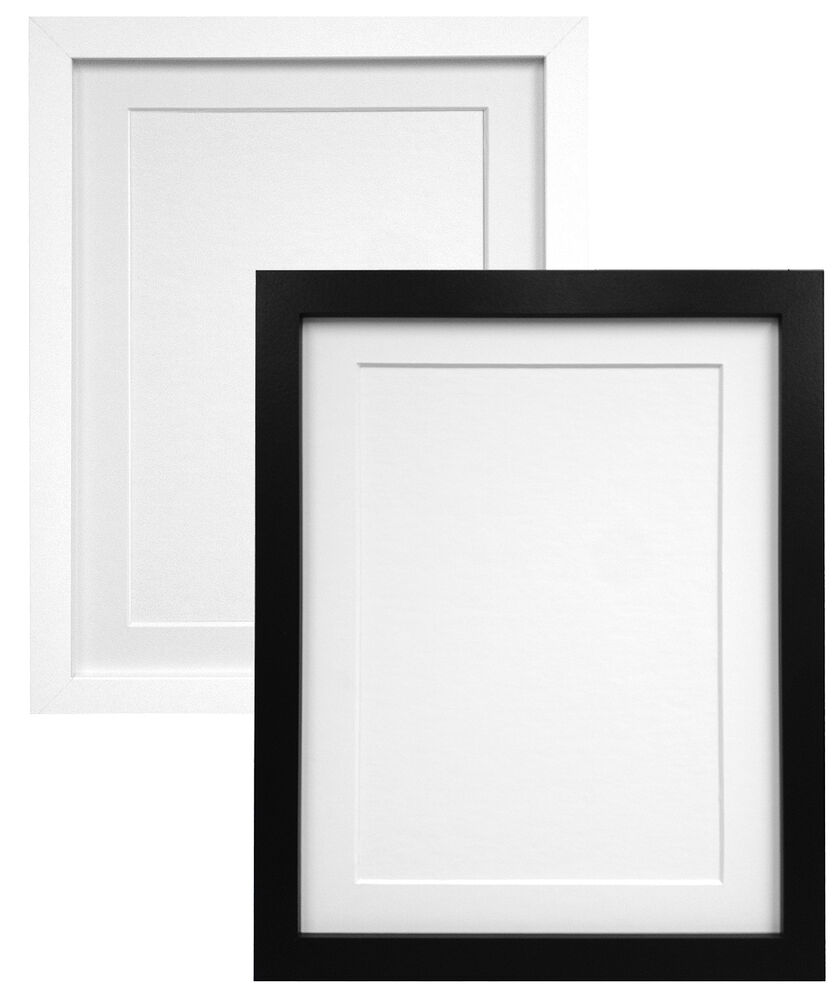 Black white photo picture frame with without mount - Picture frame without glass ...