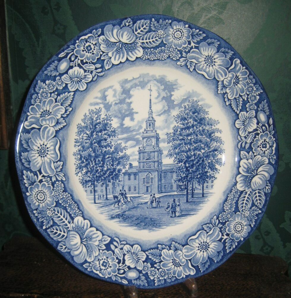 Liberty Blue Plate Independence Hall Staffordshire