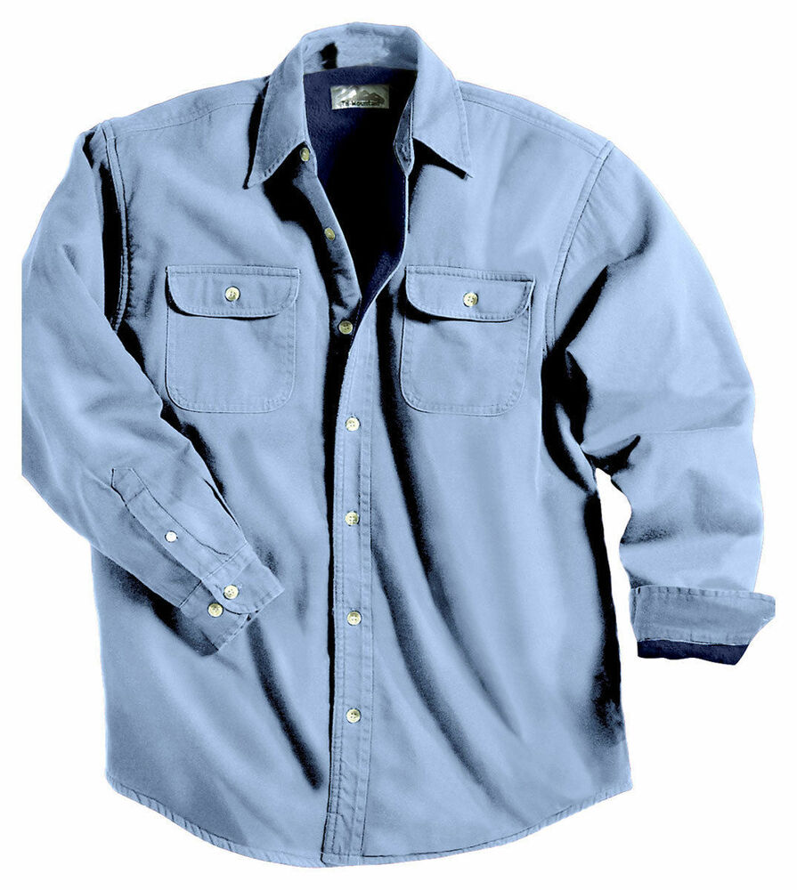Tri mountain men 39 s big and tall 100 cotton long sleeve for Mens tall denim shirt