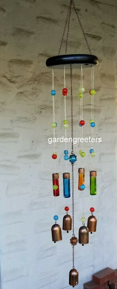 Solar Color Changing Led Hummingbird Wind Chimes With 1
