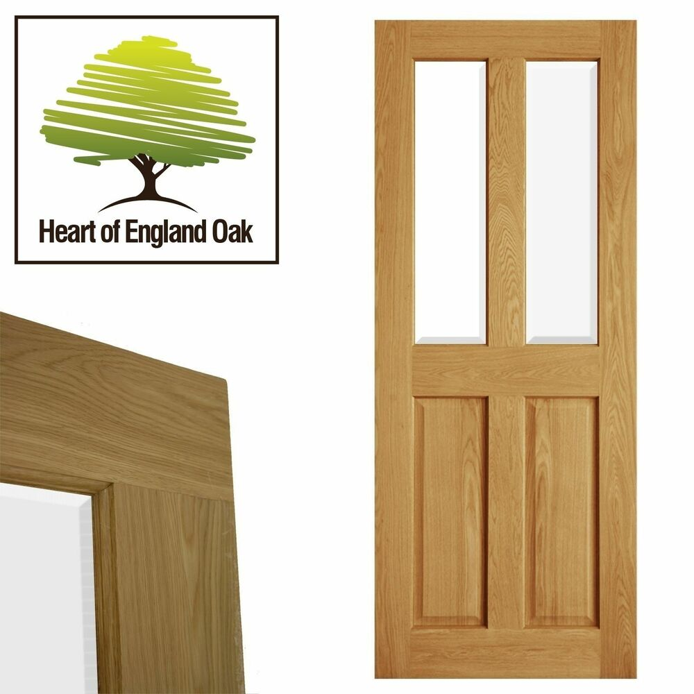 internal oak door four 4 panel victorian glazed. Black Bedroom Furniture Sets. Home Design Ideas