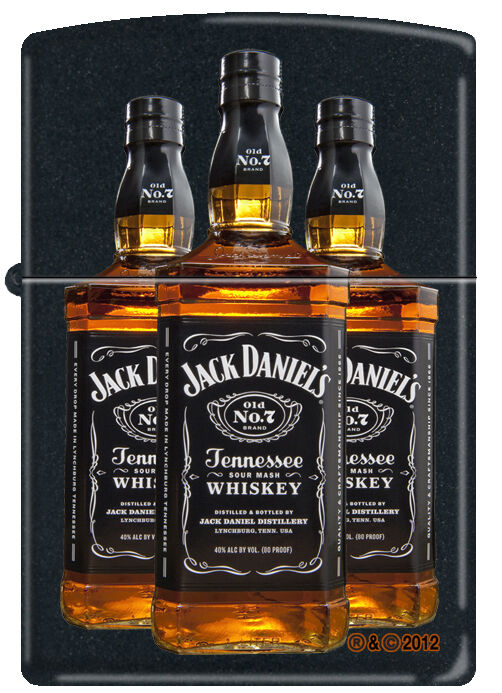 zippo jack daniel 39 s daniels bottles black matte windproof. Black Bedroom Furniture Sets. Home Design Ideas