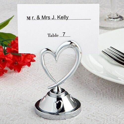 Heart Themed Reception Table Place Card Holders Wedding Party Favors