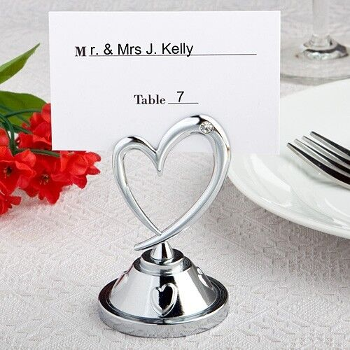Heart Themed Reception Table Place Card Holders Wedding