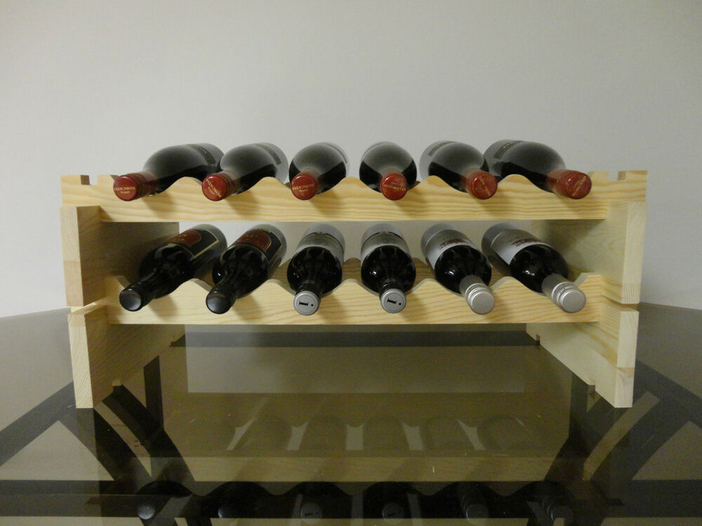 Modular Stackable Wine Rack Made Of Solid Russian Pine