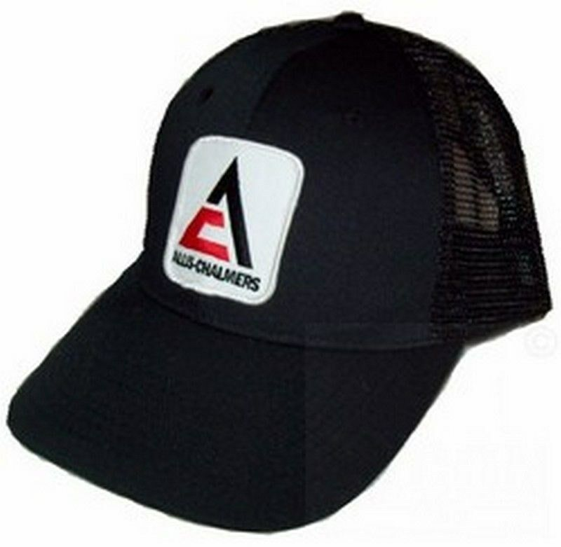 Tractor Shirts And Hats : Allis chalmers new logo tractor black mesh hat cap gift ebay