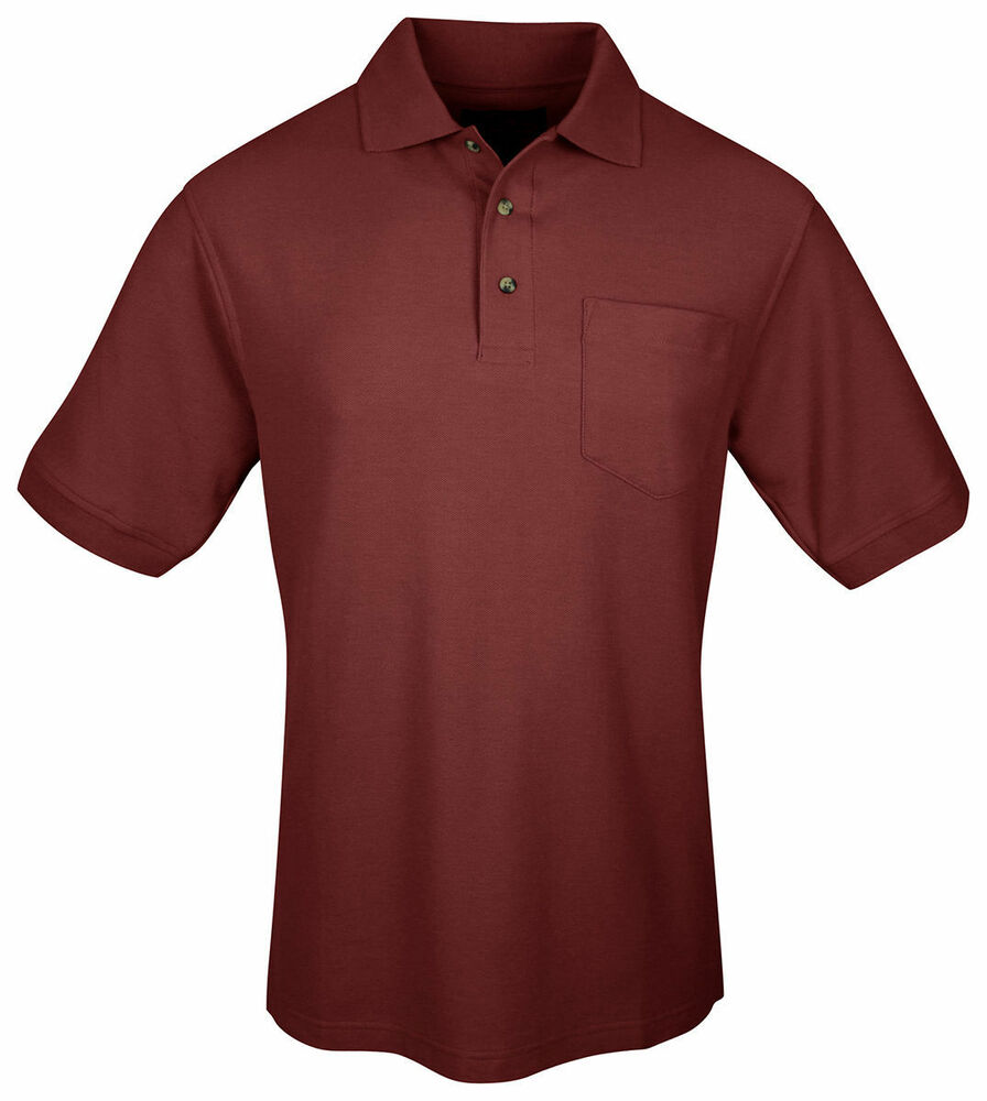 Tri mountain men 39 s 100 cotton buttons placket chest for Men s polyester polo shirts