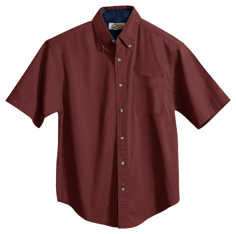 Tri Mountain Men 39 S Button Down Collar Short Sleeve Soft