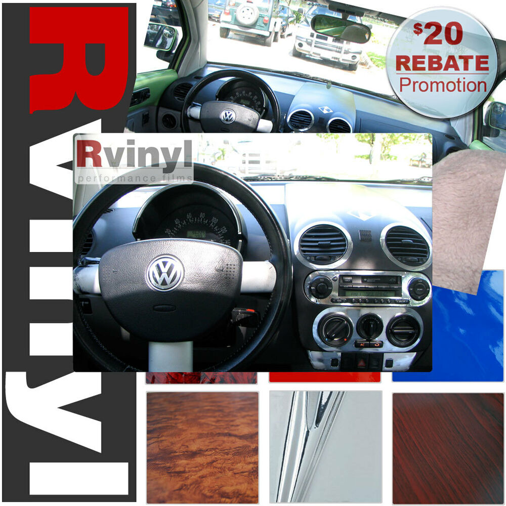 dash kit decal auto interior trim for volkswagen beetle 1998 2002 ebay. Black Bedroom Furniture Sets. Home Design Ideas