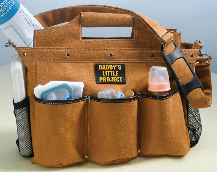 daddy diaper bag daddy 39 s little project diaper bag new dad gifts ebay. Black Bedroom Furniture Sets. Home Design Ideas