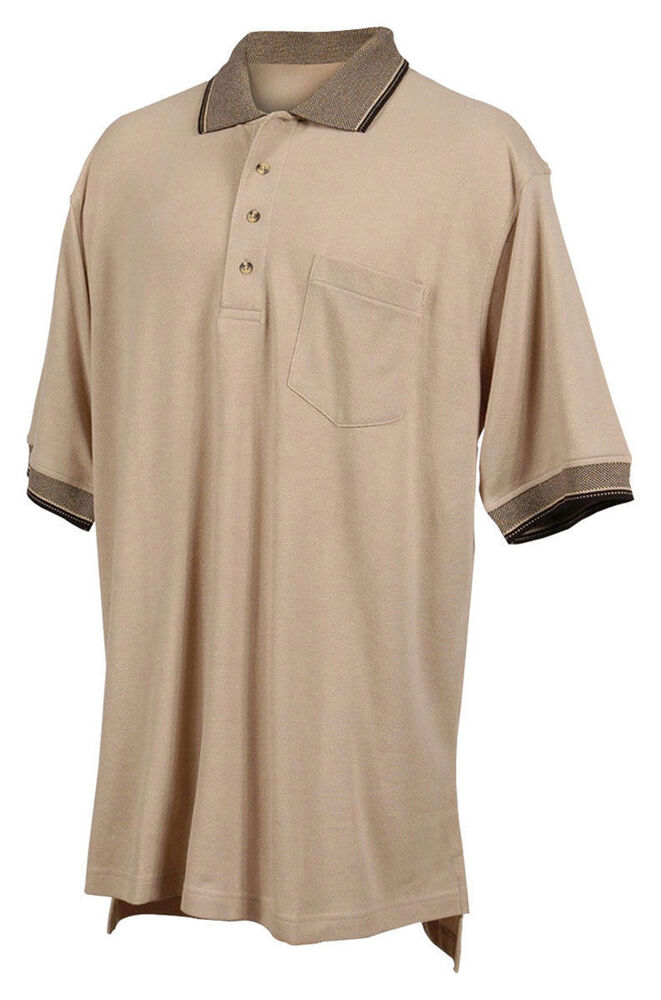 Tri mountain men 39 s big and tall rib collar short sleeve for Tall collar dress shirts